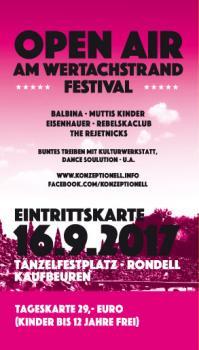 Tageskarte - Open Air am Wertachstrand - Festival - Samstag 16.9.2017