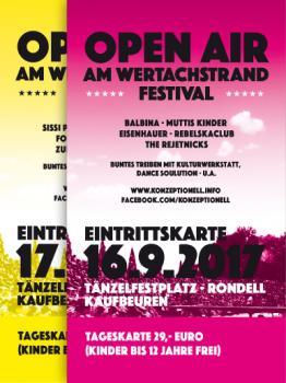 Kombikarte - Open Air am Wertachstrand - Festival - Samstag und Sonntag
